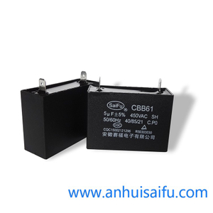 CBB61 Fan Capacitors 5uf 450VAC