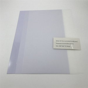 White PET No-Laminated Card(Laser)